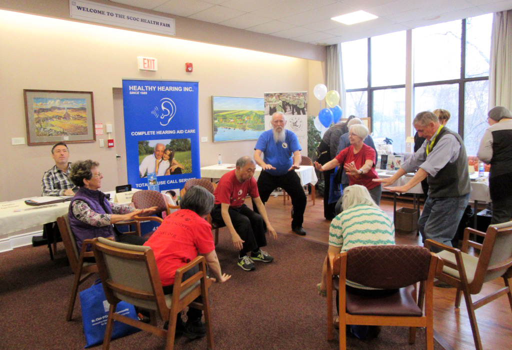 Residents exercising at St. Clair and O'Connor Community