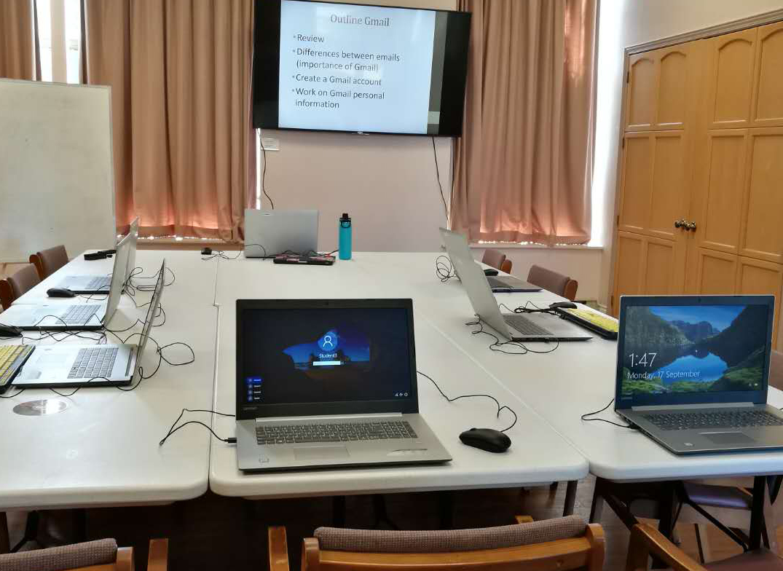 Photo of the computer classes setup