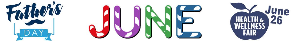 June calendar header banner
