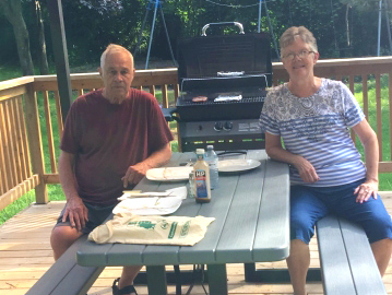 Residents of SCOC in the patio enjoying a bbq