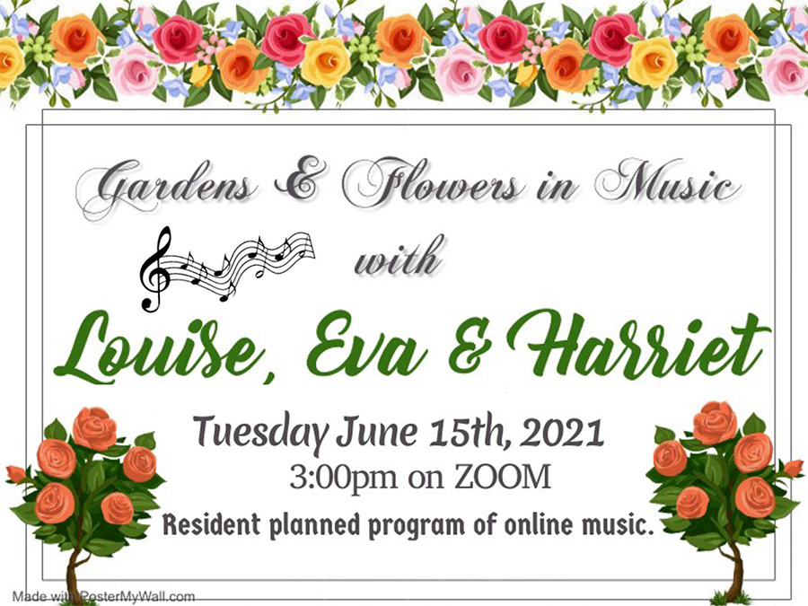 Gardens & Flowers in Music with Louise, Eva & Harriet